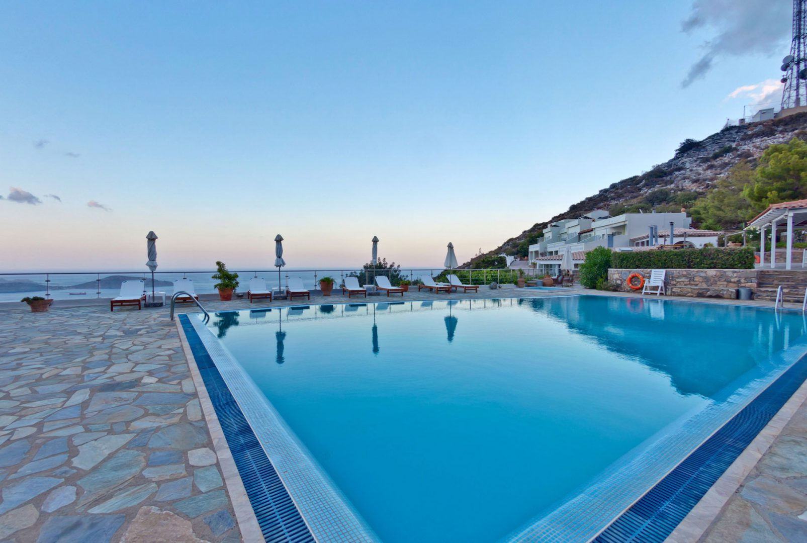 Swimming Pool Sea View - Adrakos Apartments Elounda 01