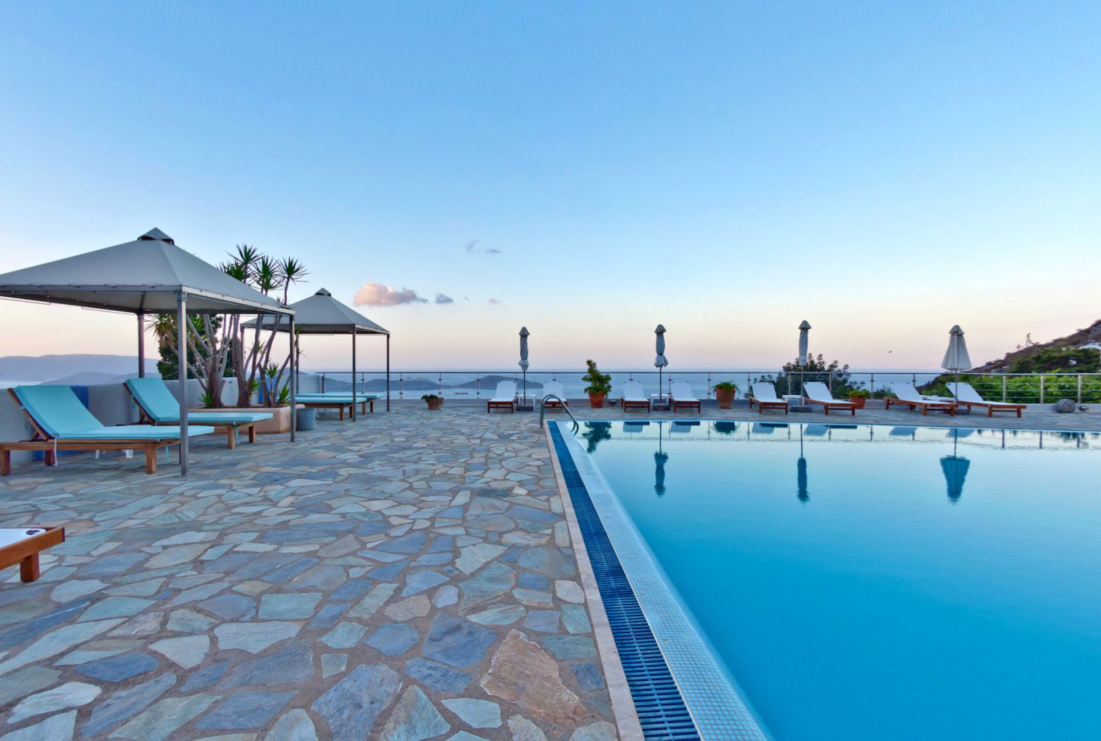 Swimming Pool Sea View - Adrakos Apartments Elounda 02