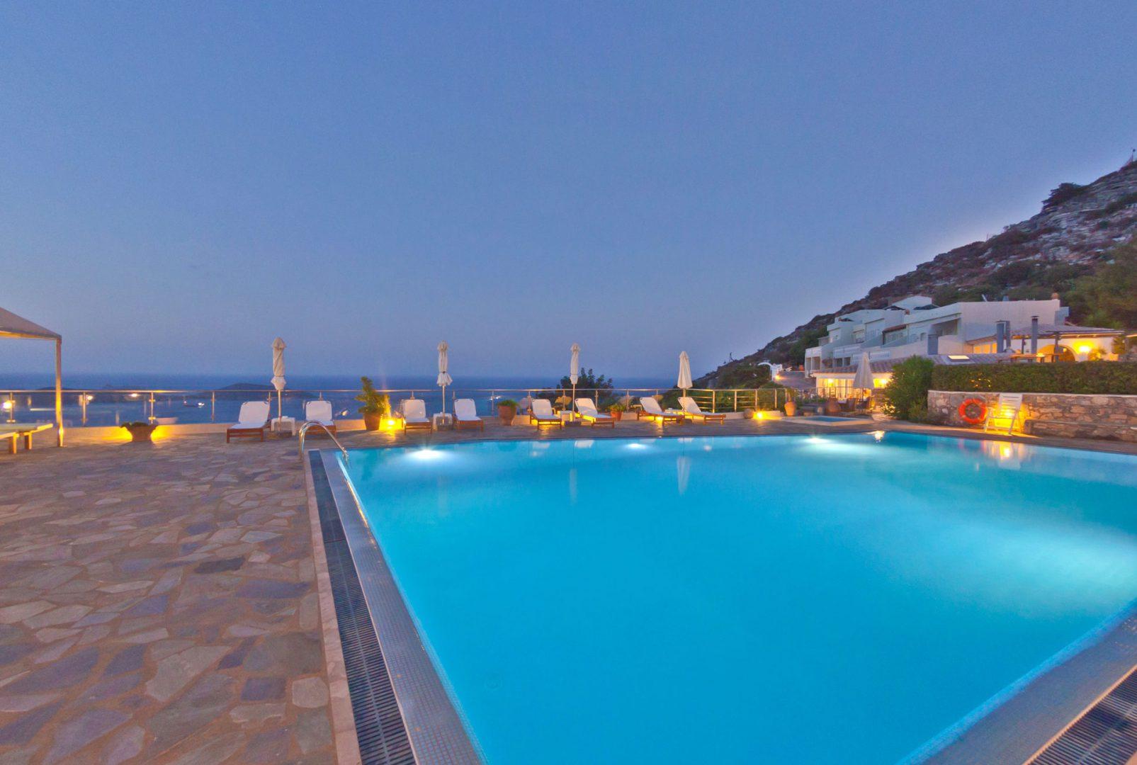 Swimming Pool Sea View - Adrakos Apartments Elounda 05