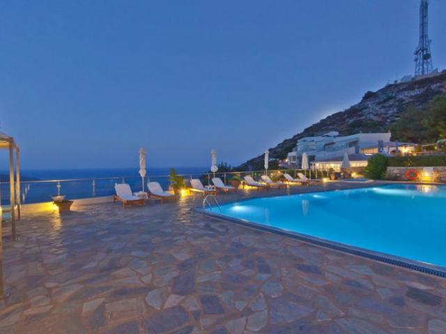 Swimming Pool Sea View - Adrakos Apartments Elounda 06